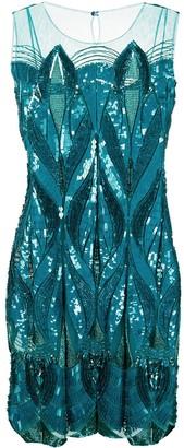 Alberta Ferretti Sequin-Embellished Cocktail Dress