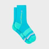 Paul Smith Women's Sky Blue Flower Socks