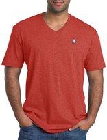 Psycho Bunny Big & Tall V-Neck Logo T-Shirt (Xl-Tall, Rouge)