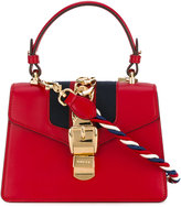 Gucci Sylvie leather mini bag - women - Cotton/Leather/Suede/Brass - One Size