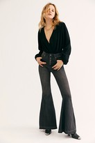We The Free Irreplaceable Flare Jeans by at Free People, Galaxy Black, 24