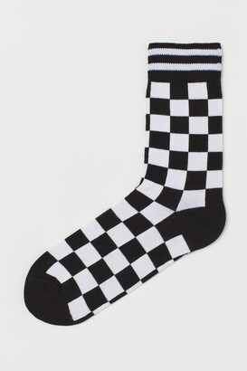 H&M Patterned Socks - Black