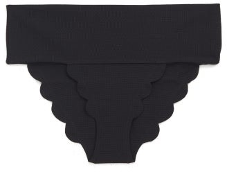 Marysia Swim Santa Clara Scalloped-edge Bikini Briefs - Black