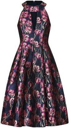 Adrianna Papell Floral Halter Dress