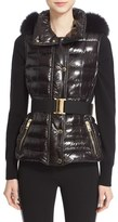 Burberry Women's 'Willowbank' Hooded Down Vest With Genuine Fox Fur Trim