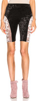 Sandy Liang Bobo Shorts in Black & Dusty Pink   FWRD