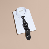 Burberry Slim Fit Striped Silk Tie