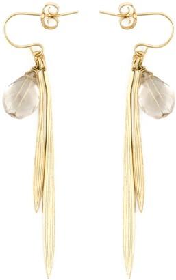 Wouters & Hendrix 'Bamboo' rutilated quartz earrings