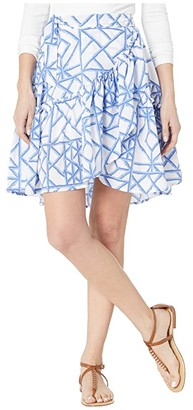 Vineyard Vines Lattice Wrap Skirt (Marlin) Women's Clothing