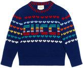 Gucci Kids Children's Gucci intarsia wool cashmere sweater