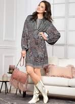 Linea Tesini Heine Paisley Print Dress
