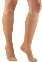 BEIGE Truform Women's Stockings, Knee High, Sheer: 15-20 mmHg, Beige, Medium