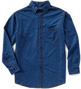 Roundtree & Yorke Casuals Long-Sleeve Denim Sportshirt