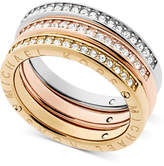 Michael Kors Tri-Tone 3-Pc. Set Pavé Rings