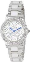 August Steiner Women's AS8052SS Crystal Glitz Ceramic Link Bracelet Watch