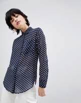 Warehouse Textured Spot Shirt