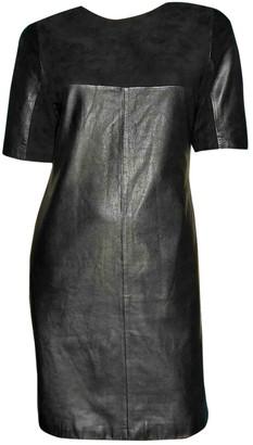 Bel Air Black Leather Dress for Women