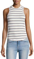 Frame 70's Double-Striped Fitted Tank, White