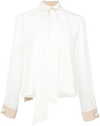 Alexis neck-tie silk blouse
