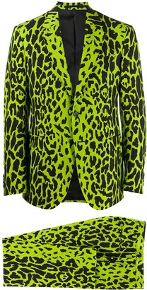 Versace Leopard Single-Breasted Suit