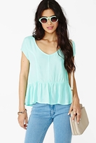 Nasty Gal Spring Dreams Top - Mint