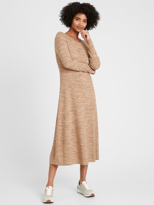 Banana Republic Ribbed Maxi Sweater Dress