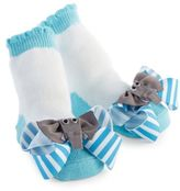 Mud Pie Elephant Socks in Blue