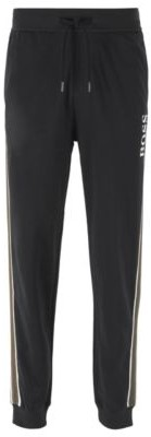 HUGO BOSS - Loungewear Pants In French Cotton Terry With Side Stripes - Black