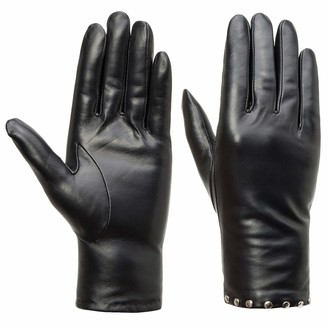 Women's Touchscreen Winter Genuine Leather Gloves - Acdyion Warm Driving Gloves with Cashmere Lining New Studded Decoration XL