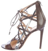 Alejandro Ingelmo Leather Cage Sandals