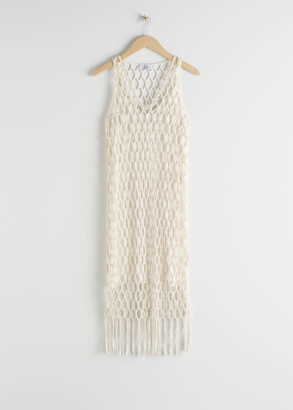 And other stories Metallic Braided Midi Dress