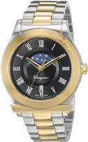 Salvatore Ferragamo Men's 'FERAGAMO 1898' Quartz Stainless Steel Casual Watch, Color:Two Tone (Model: FBG050016)