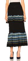Peter Pilotto Jacquard Ruffle Knit Skirt