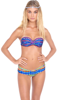 Luli Fama Tribal Beach Sandy Buns Minimal Cover Bottom In Multicolor