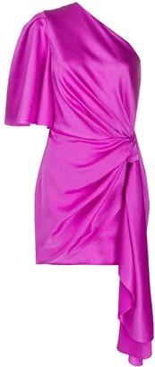 SOLACE London Marcie asymmetric mini dress