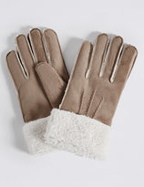Marks and Spencer Faux Fur Shearling Gloves