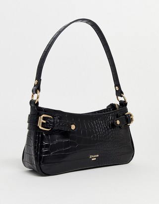Dune baguette shoulder bag in black