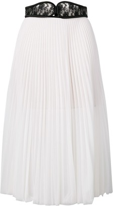 Christopher Kane Lace Crotch Pleated Skirt