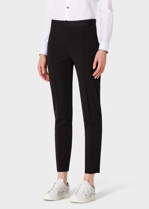 Paul Smith Women's Black Stretch-Cotton Skinny-Fit Trousers