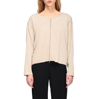 Emporio Armani Sweater Cardigan In Ribbed Jacquard With Zip