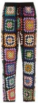 Ashish Sequinned Patchwork Crochet Trousers - Womens - Multi