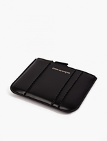 Comme Des Garcons Wallet Black Raised Spike Leather Coin Holder
