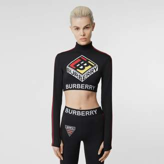 Burberry Logo Graphic Stretch Jersey Cropped Top