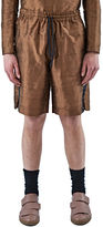 Abasi Rosborough Men's Arc Game Striped Shorts In Bronze