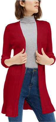 Maison Jules Ribbed Open Cardigan Sweater