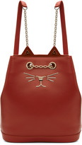 Charlotte Olympia Red Feline Backpack