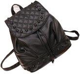 Fenleo Girl Rivet Leather School Bag Travel Backpack Satchel Women Shoulder Rucksack