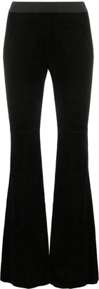P.A.R.O.S.H. Suede Low-Waist Trousers
