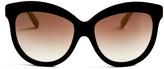 Italia Independent Velvet-coated cat-eye sunglasses