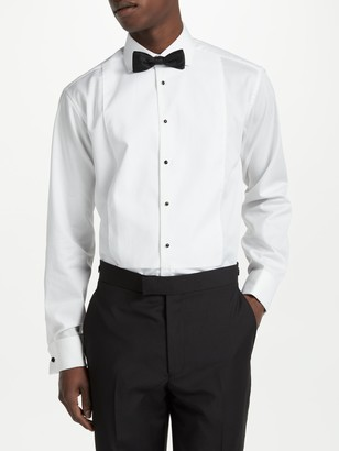 John Lewis & Partners Marcella Point Collar Regular Fit XL Sleeve Dress Shirt, White